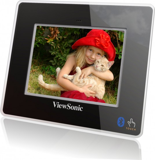 viewsonic digital photo frames display plug and play personality at ces